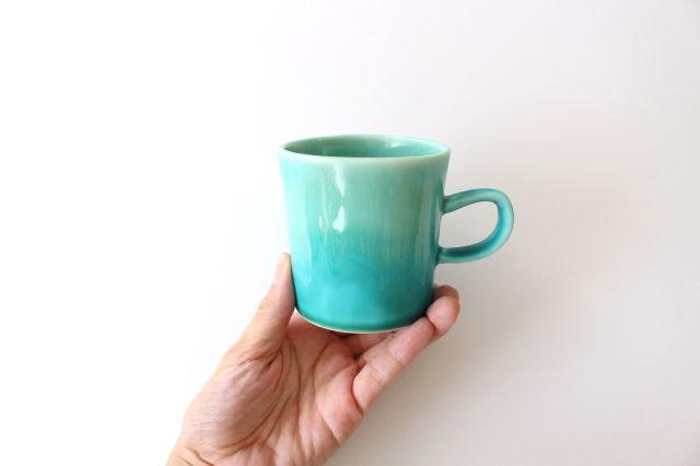 マグカップ S    ナイルブルー    陶器 宮木英至 画像4