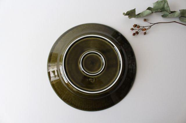 しのぎ7寸皿 オリーブ 磁器 皓洋窯 有田焼 画像5
