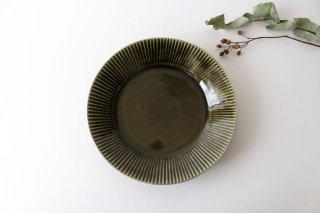しのぎ7寸皿 オリーブ 磁器 皓洋窯 有田焼商品画像