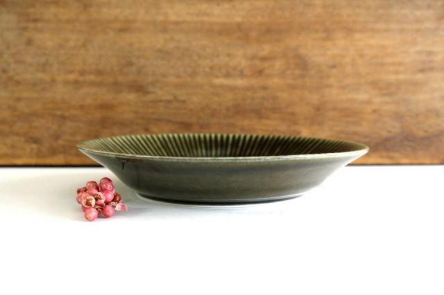 しのぎ5.5寸皿 オリーブ 磁器 皓洋窯 有田焼 画像2