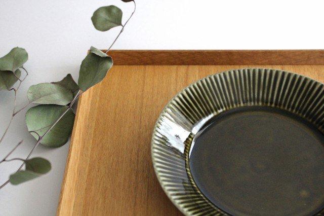 しのぎ5.5寸皿 オリーブ 磁器 皓洋窯 有田焼 画像4