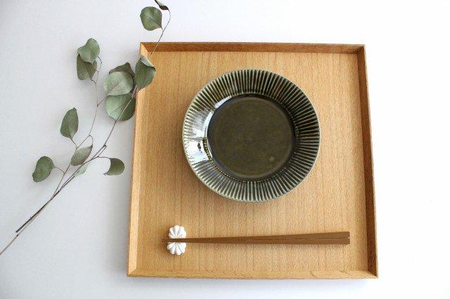 しのぎ5.5寸皿 オリーブ 磁器 皓洋窯 有田焼 画像6