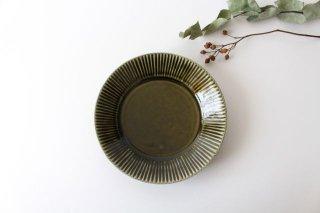しのぎ5.5寸皿 オリーブ 磁器 皓洋窯 有田焼商品画像