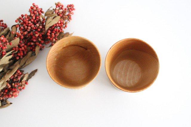 木のカップ t70 ツートン 桜 ivory+安藤由紀 画像2