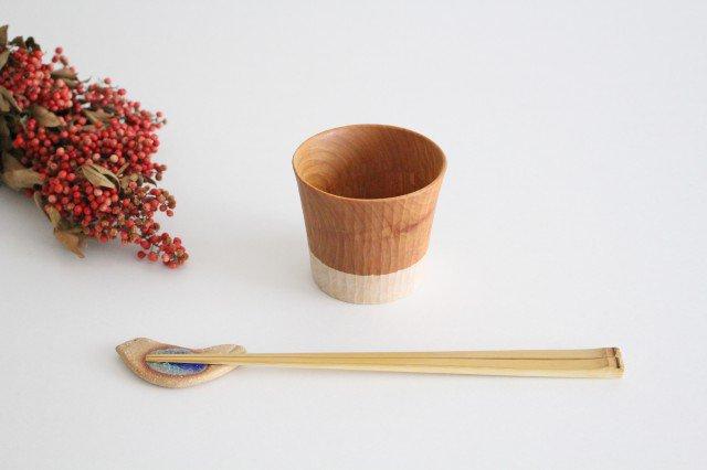 木のカップ 桜 ツートン ivory+安藤由紀 画像5
