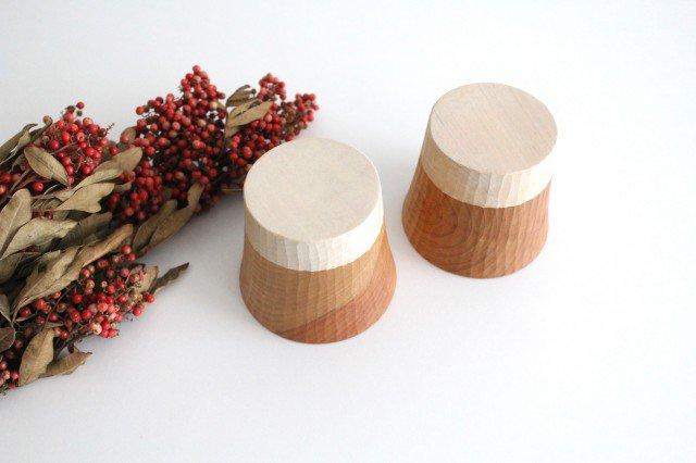 木のカップ t70 ツートン 桜 ivory+安藤由紀 画像6
