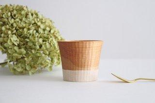 木のカップ t70 ツートン 桜 ivory+安藤由紀商品画像