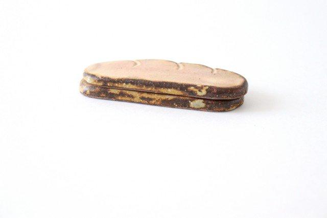 粉福 カトラリーレスト コッペパン 陶器 木のね 画像5