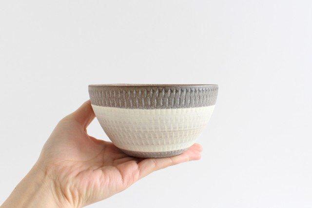 スープボウル ツートンマット 【A】 陶器 翁明窯元 小石原焼 画像5