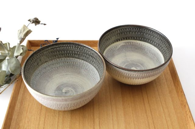 スープボウル ツートンマット 【B】 陶器 翁明窯元 小石原焼 画像4