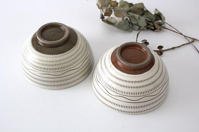 丸丼 トビカンナ・櫛目 陶器 小石原焼 画像3