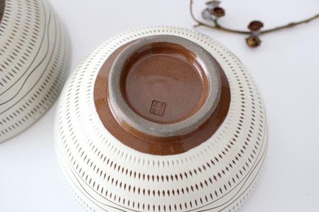丸丼 トビカンナ・櫛目 陶器 小石原焼 画像5