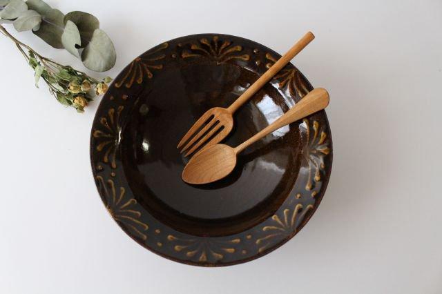 リム鉢 8寸 アメ 陶器 櫻井薫