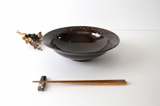 リム鉢 8寸 アメ 陶器 櫻井薫 画像4