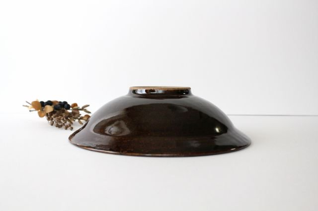 リム鉢 8寸 アメ 陶器 櫻井薫 画像5