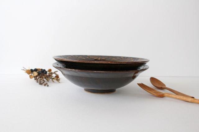 リム鉢 8寸 アメ 陶器 櫻井薫 画像6