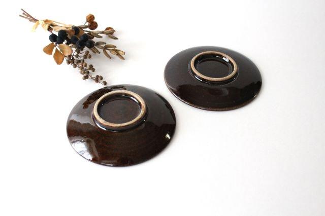 豆皿 4寸 アメ 陶器 櫻井薫 画像6