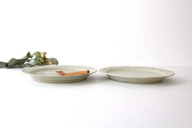 しのぎリム皿 6寸 青マット 陶器 櫻井薫 画像2