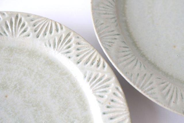 しのぎリム皿 6寸 青マット 陶器 櫻井薫 画像3