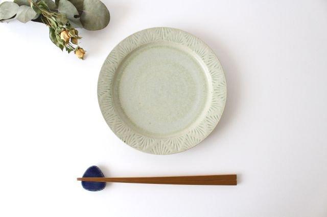 しのぎリム皿 6寸 青マット 陶器 櫻井薫 画像4