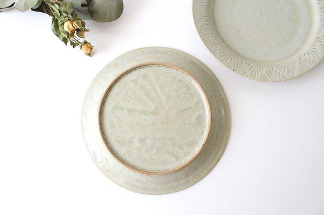 しのぎリム皿 6寸 青マット 陶器 櫻井薫 画像5