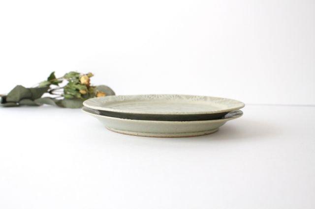 しのぎリム皿 6寸 青マット 陶器 櫻井薫 画像6