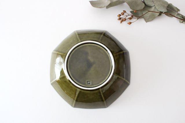 八角平鉢 オリーブ 磁器 皓洋窯 有田焼 画像3