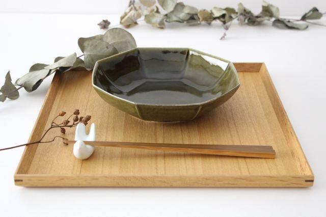 八角平鉢 オリーブ 磁器 皓洋窯 有田焼 画像5