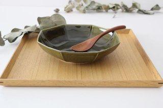 八角平鉢 オリーブ 磁器 皓洋窯 有田焼商品画像