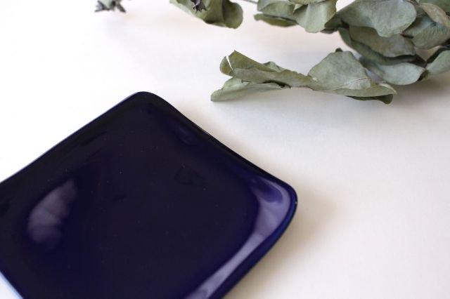 四角小皿 瑠璃 陶器 momone 画像5