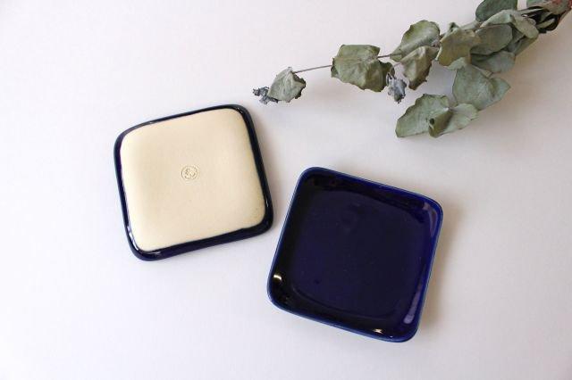 四角小皿 瑠璃 陶器 momone 画像6