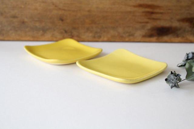 四角小皿 レモン 陶器 momone 画像2