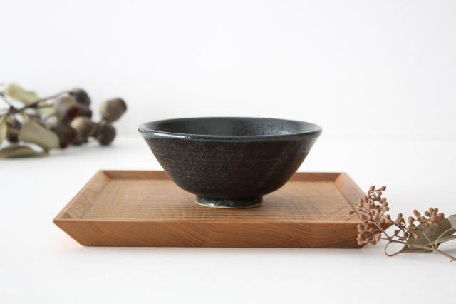 飯碗 黒銅 陶器 石井ハジメ