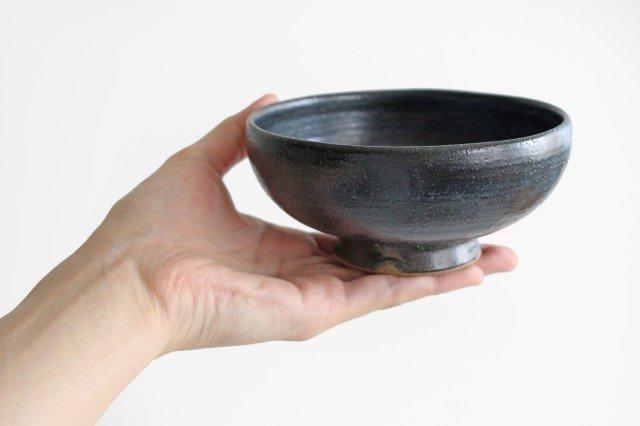 ボウル4寸 黒銅 陶器 石井ハジメ 画像2