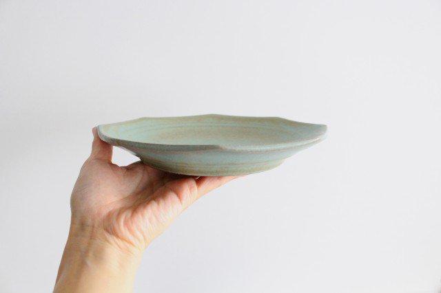 八角皿 薄荷 陶器 平沢佳子 画像2