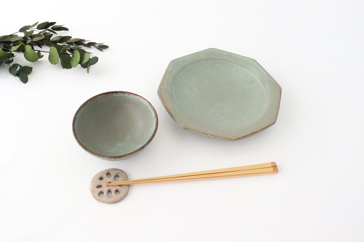 八角皿 薄荷 陶器 平沢佳子 画像3