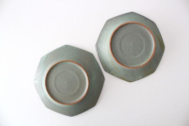 八角皿 薄荷 陶器 平沢佳子 画像4