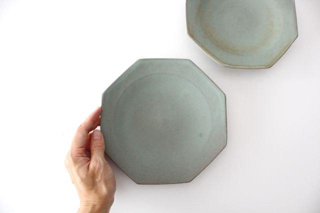 八角皿 薄荷 陶器 平沢佳子 画像5