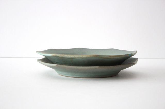 八角皿 薄荷 陶器 平沢佳子 画像6