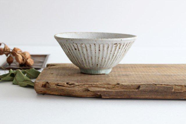 飯碗 しのぎ 粉引 陶器 伊藤豊