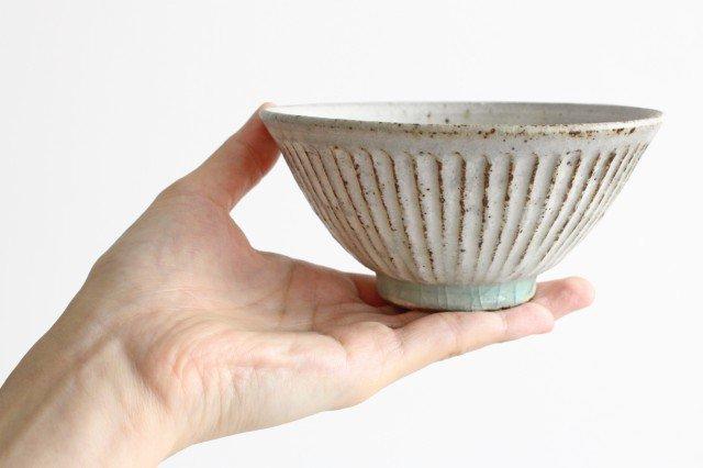飯碗 しのぎ 粉引 陶器 伊藤豊 画像5