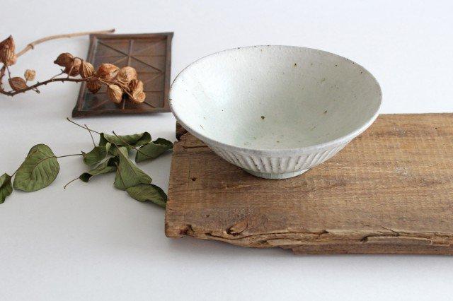 丼ぶり しのぎ 粉引 陶器 伊藤豊 画像3