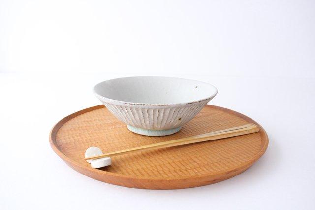 丼ぶり しのぎ 粉引 陶器 伊藤豊 画像5