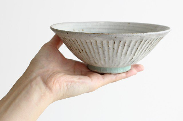丼ぶり しのぎ 粉引 陶器 伊藤豊 画像6