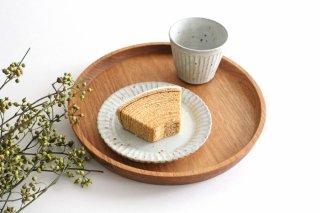 花しのぎプレート 4.5寸 粉引 陶器 伊藤豊商品画像