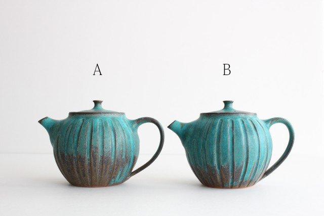 丸ポット シャビーターコイズ 【A】 陶器 わかさま陶芸 益子焼 画像2