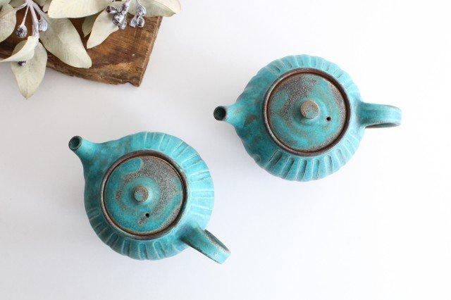 丸ポット シャビーターコイズ 【A】 陶器 わかさま陶芸 益子焼 画像4