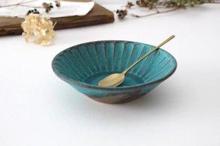 朝顔鉢 小 シャビーターコイズ 陶器 わかさま陶芸 益子焼商品画像