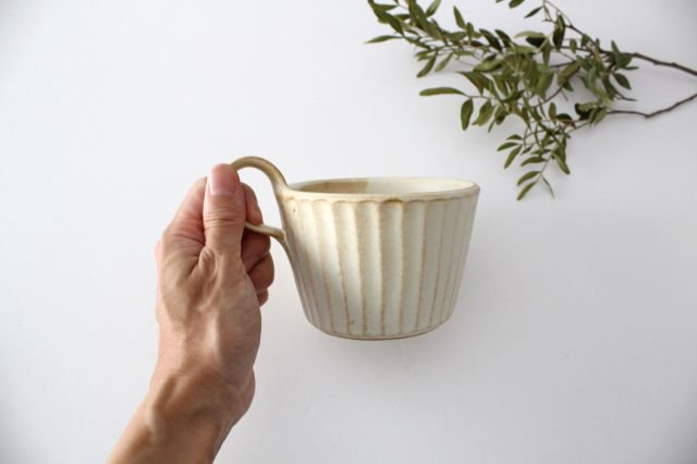 モダンマグカップ kinari鎬 陶器 わかさま陶芸 益子焼 画像4