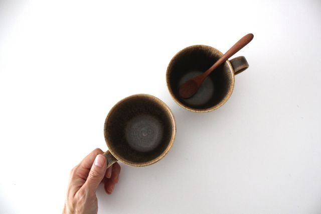 マグカップ チタン 茶 半磁器 後藤奈々 画像3